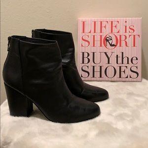 🍁 STEVE MADDEN 'Star' Black Leather Booties, 8M